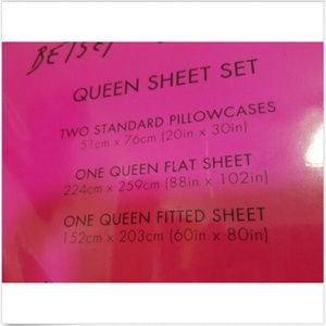 Betsey Johnson Bedding - Betsey Johnson Floral Plaid Queen Sheet Set